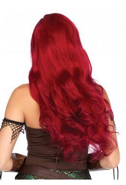 Parrucca rossa capelli lunghi mossi Leg Avenue
