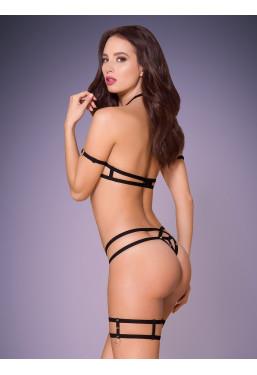 Sexy Completino intimo nero stringato 858 Obsessive Lingerie