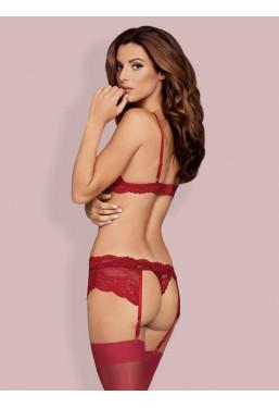 Sexy Completino intimo rosso con reggicalze 810 Obsessive Lingerie