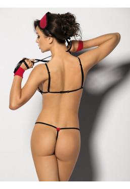 Sexy body rosso trasparente Eltero di Angels Never Sin