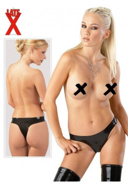 Tanga in lattice nero Late X