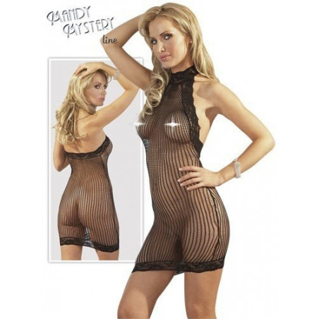Sexy abito sottoveste in rete e pizzo mandy mystery