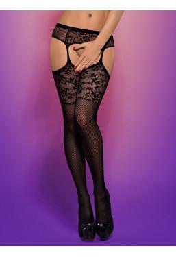 Sexy Collant aperti effetto reggicalze S211 Obsessive Lingerie