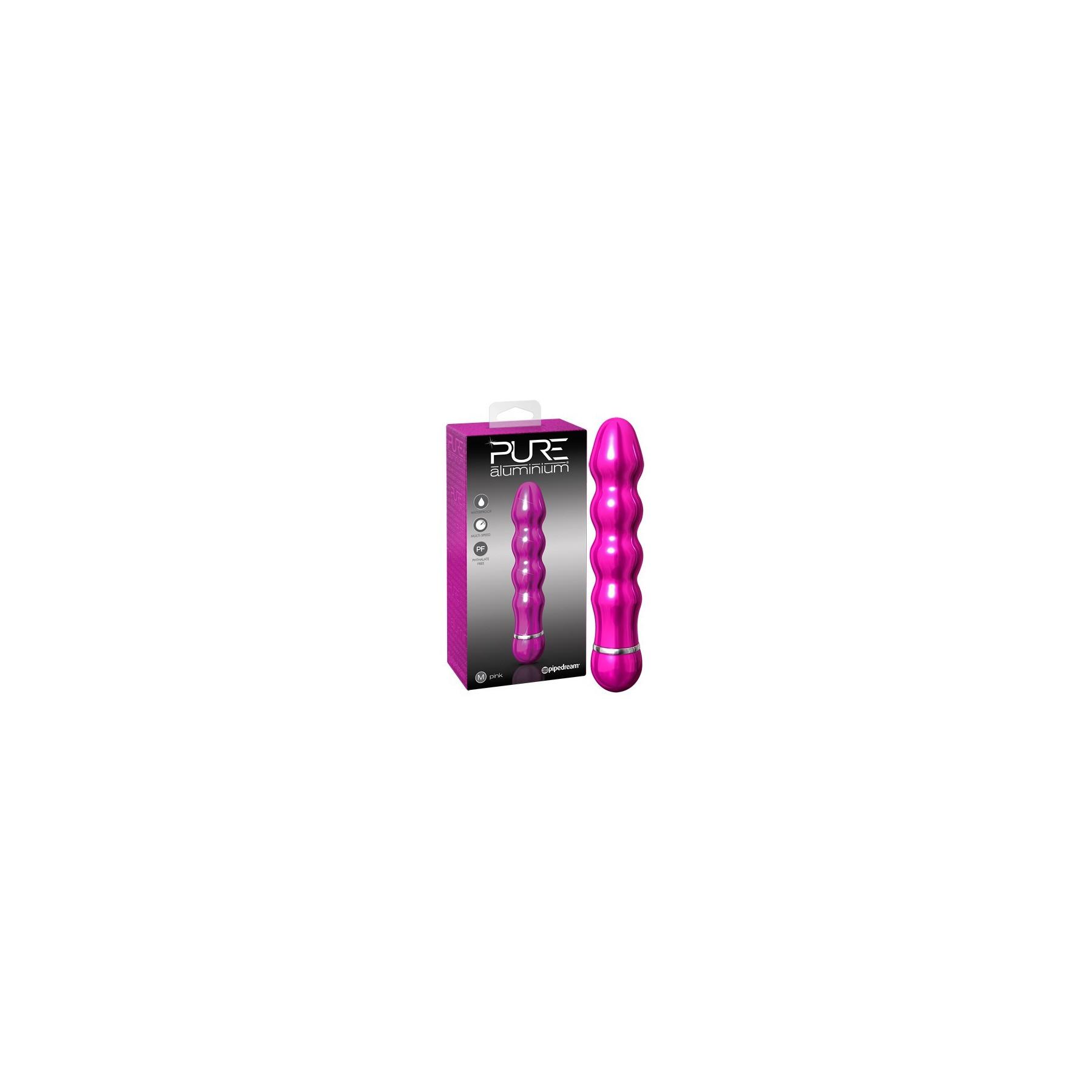 Vibratore Pure Aluminium Pink Medio