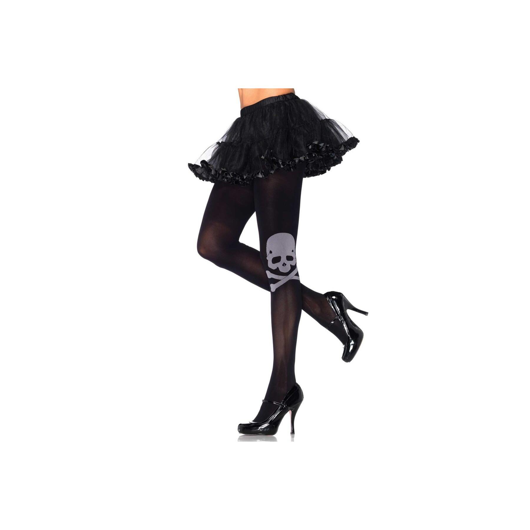 Collant neri con teschio Leg Avenue Calze coprenti