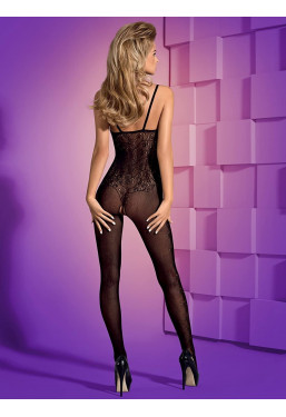 Bodystocking aperto all'inguine