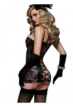 Vestito Guepiere con retro stringato a corsetto Leg Avenue