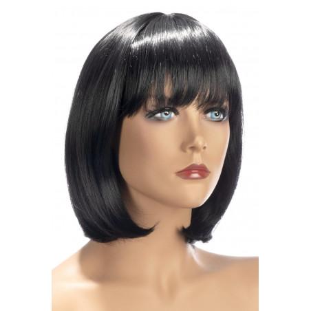 Parrucca caschetto nero con frangia World Wigs