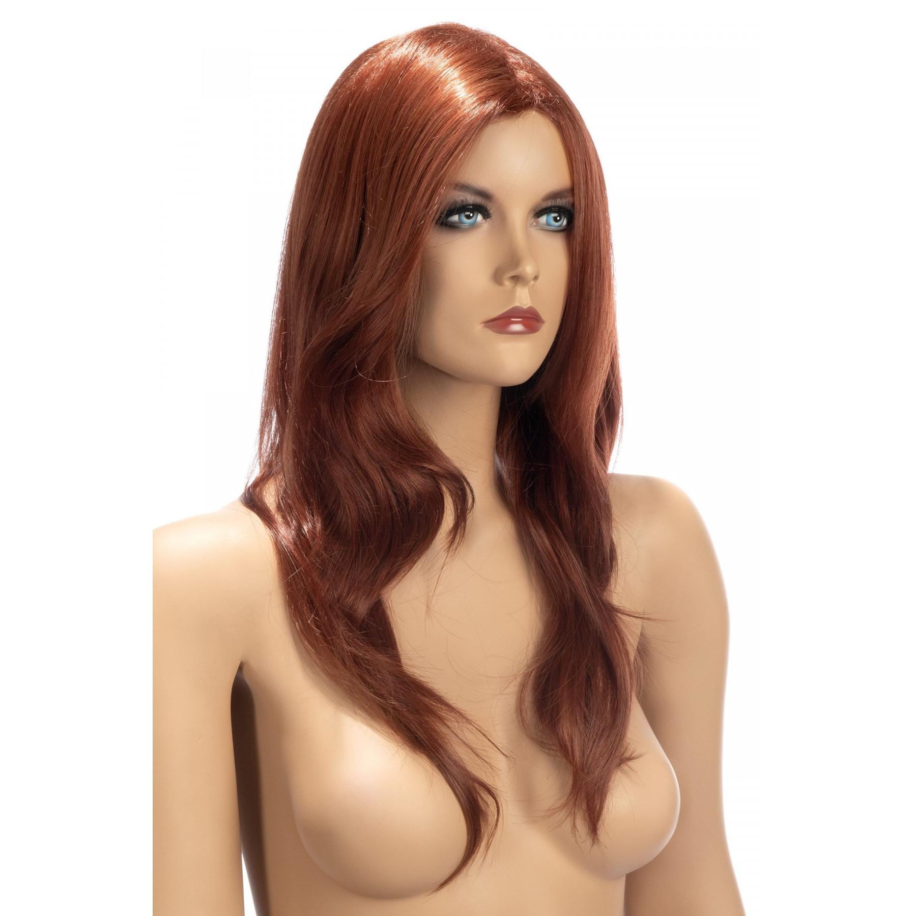 Parrucca lunga rossa World Wigs