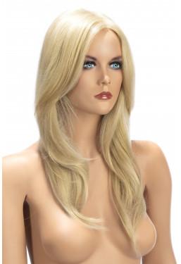 Parrucca bionda lunga World Wigs