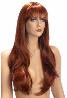 Parrucca lunga rossa con frangia World Wigs