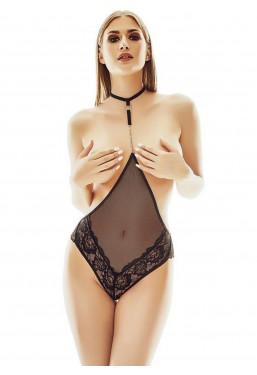 Body intimo con seno scoperto in pizzo nero Anais Lingerie