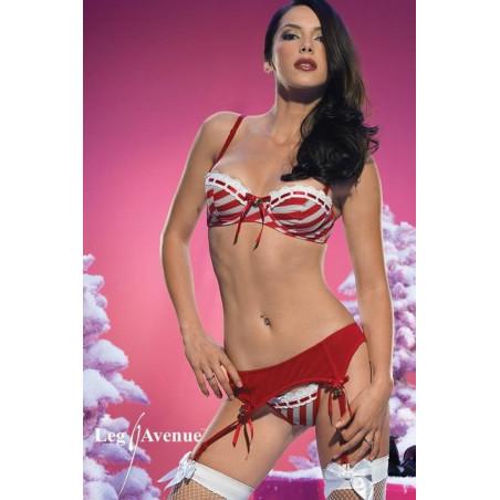 Sexy completino intimo natalizio leg avenue