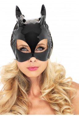 Maschera Cat Woman Vinile Leg Avenue