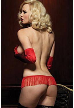 Perizoma con frange rosso