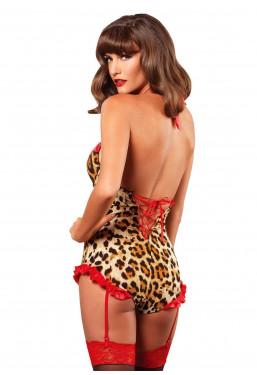 Body-Tuta Guepiere Leopardo Leg Avenue