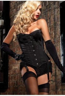 Corsetto nero Showgirl Premium