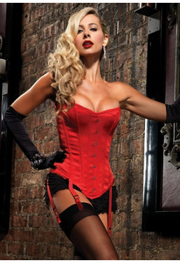 Corsetto rosso Showgirl Premium