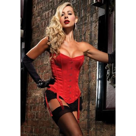 Corsetto rosso Showgirl Premium Leg Avenue