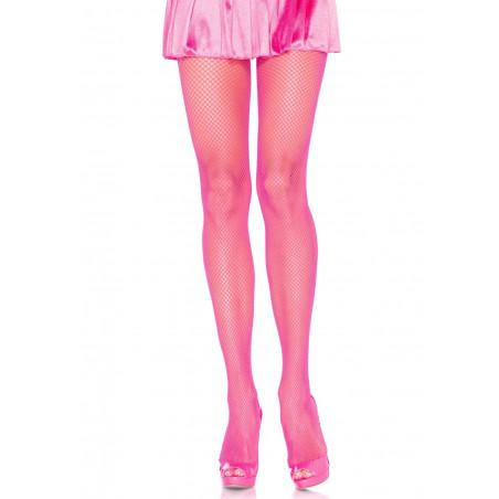 Calze a rete collant rosa fluo Leg Avenue