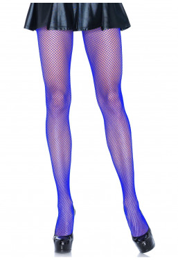 Calze a rete collant colorati blu