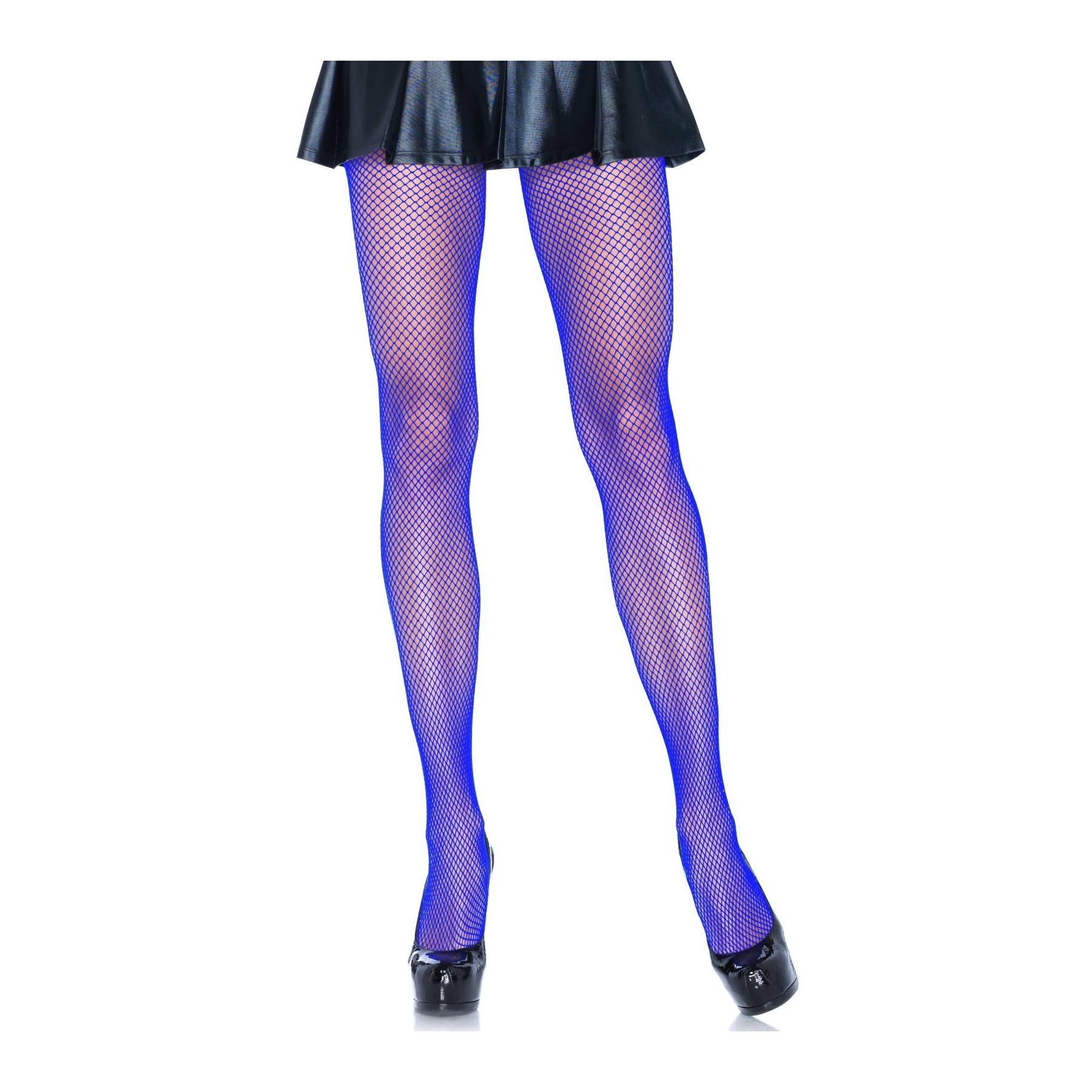 Calze a rete collant colorati blu Leg Avenue