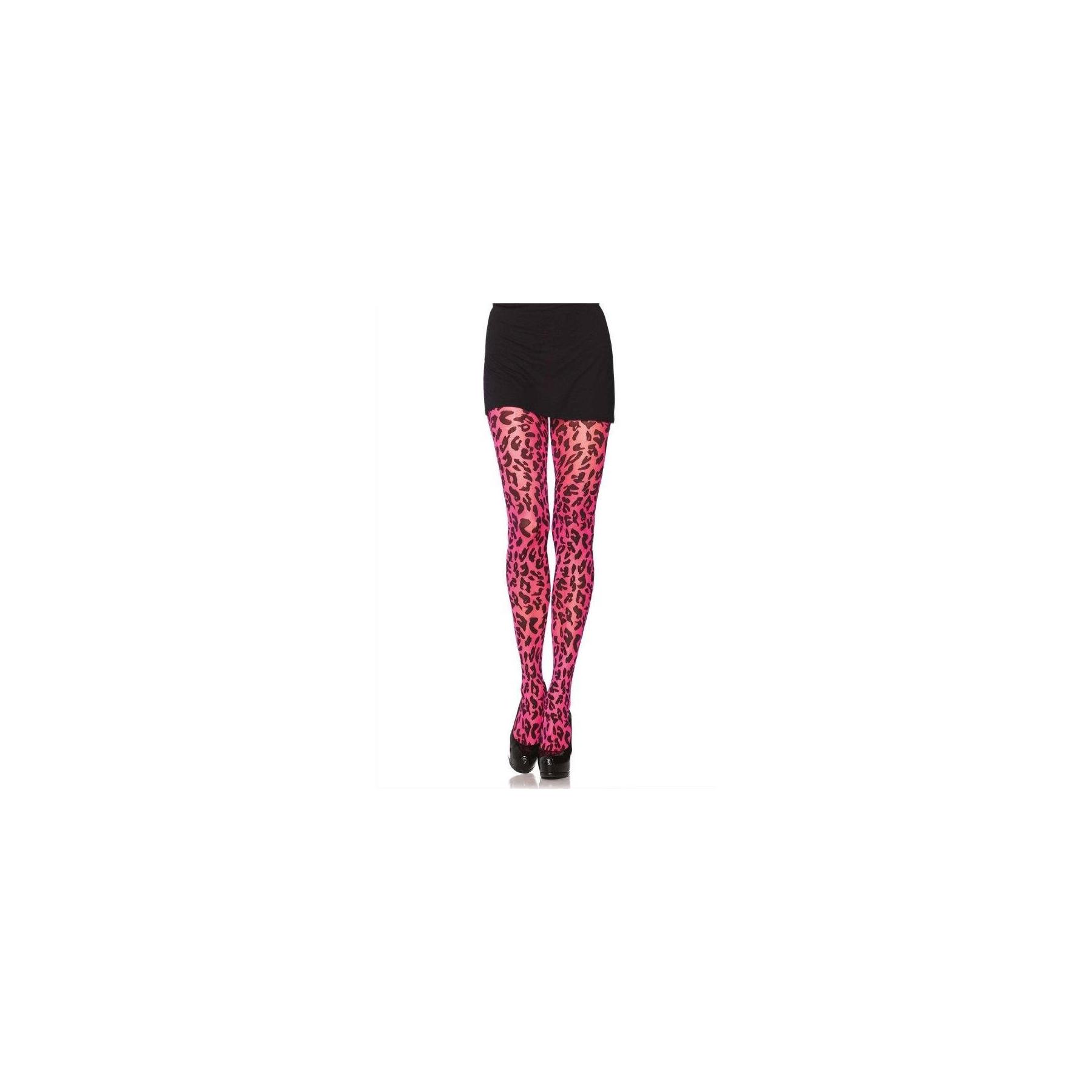Calze stampa leopardo rosa