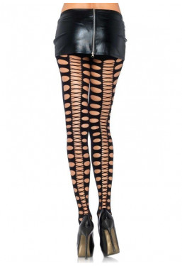 Collant punk tagli stringato Leg Avenue