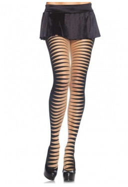Collant zebrati righe optical Leg Avenue