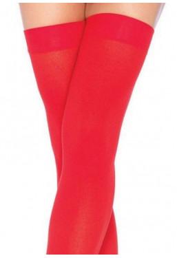 Calze autoreggenti coprenti rosse Leg Avenue