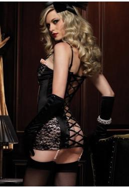 Vestito Guepiere con retro stringato a corsetto