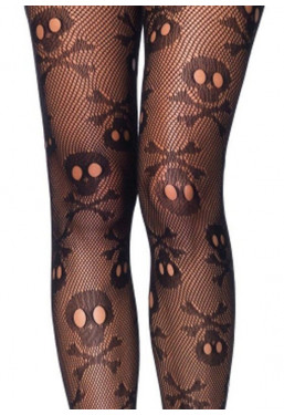 Collant punk pirate skull con teschi