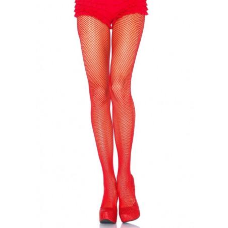Calze a rete sexy collant rossi Leg Avenue