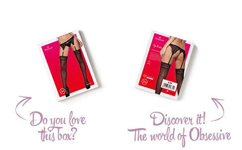 Calze da reggicalze 828 Obsessive Lingerie