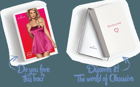 Sottoveste Satinia rosa Obsessive Lingerie